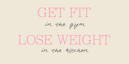getfitinthegymloseweightinthekitchen